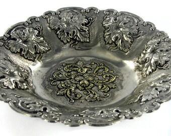 Ornate Silver Plate Dish