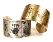 Vintage Anatomical Drawings Cuff Bracelet, Medical Jewelry, Vintage Medical Illustrations