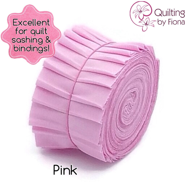 10 X 2.25 Pink PreCut Quilt Binding Fabric Strips 2.25