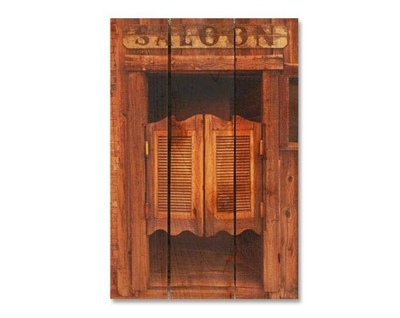 16x24 Saloon Doors on Wood, Indoor Outdoor Safe Art, Wall Decor, Home Decor, Wall Hanging, Man Cave Western Art. (SD1624)