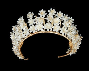 Vintage Wedding Floral Tiara Crown