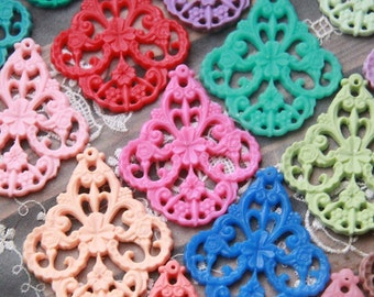 48 pcs of german filigree charm 0289-45x55mm-mix in pairs-big value pack-factory clearance