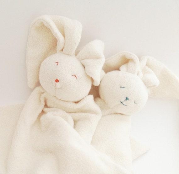 Bunny-Rabbit organic baby blanket