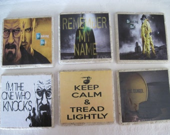 Breaking Bad Coasters - All 6 Coasters
