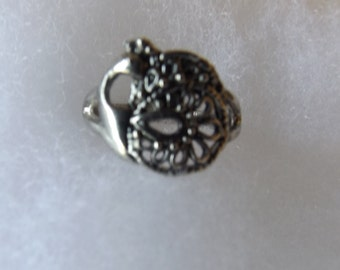 Vintage Silvertone Ring Size 7 1/2  CL10-36