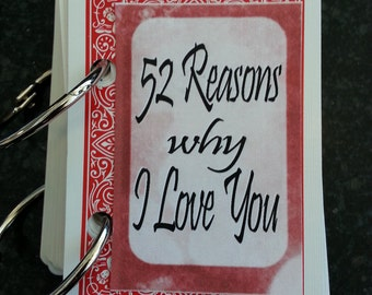 52 reasons Why I love you - a creative gift for someone special