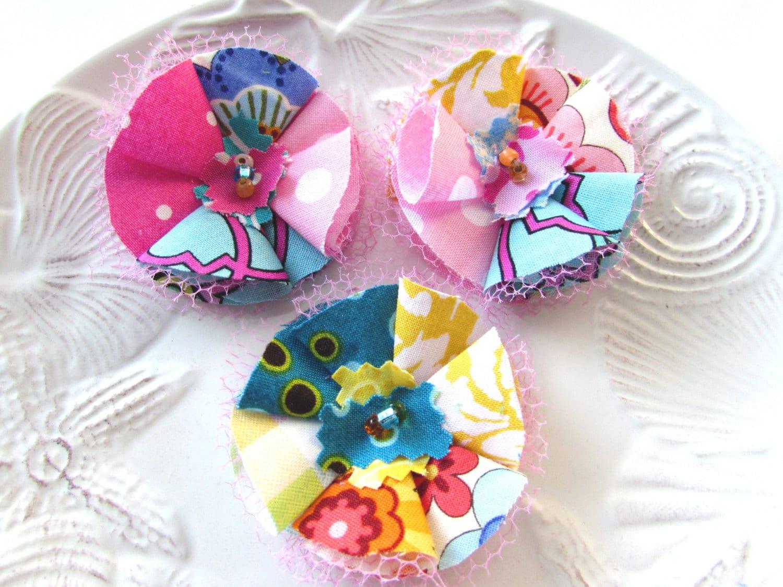 Flower appliques summer flowers fabric flowers embellishments - Appliques flos ...