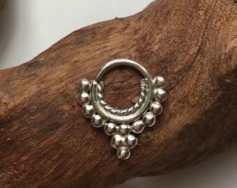silver septum jewelry