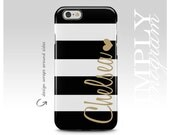 Monogram iPhone 6s Case , Black Striped iPhone Case , iPhone 6 Plus Case , Personalized Cover , Monogram iPhone Case , iPhone 6s Plus Case