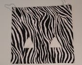 "The ""Pig""-Out Pouch.. Zebra on white with 2 holes Hay Bag"