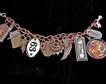 Large Steampunk Charm Bracelet