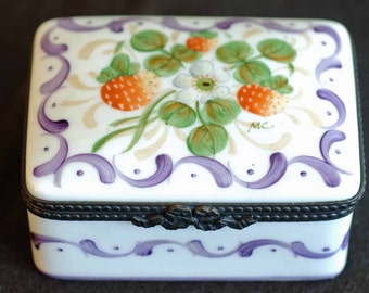 Tiffany Limoges Hand Painted Box