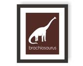 Dinosaur Nursery Art Print -  Brachiosaurus- Kids Dinosaur Art, Boy Room wall Decor, Kids Wall Art, Dinosaur Design