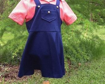 Girls Vintage 1960's Polyester Dress Girls 6/7