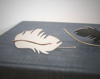 Valentines Day Gifts - Silver FEATHER Earrings - Argentium Silver Feather Earrings - Womens Jewelry - womans earrings - Gifts