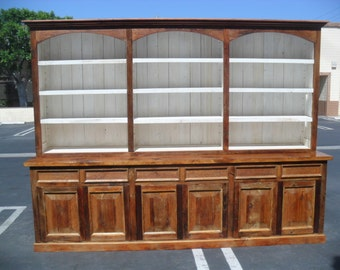 Hutch made from reclaimed wood custom made in the USA