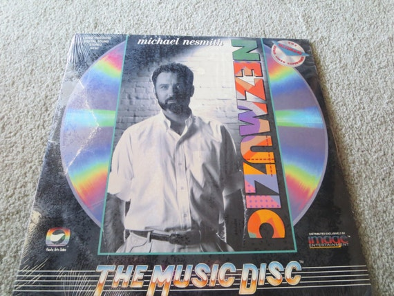 David Jones Personal Collection Record Album - Michael Nesmith -Nezmuzic Laser Videodisc