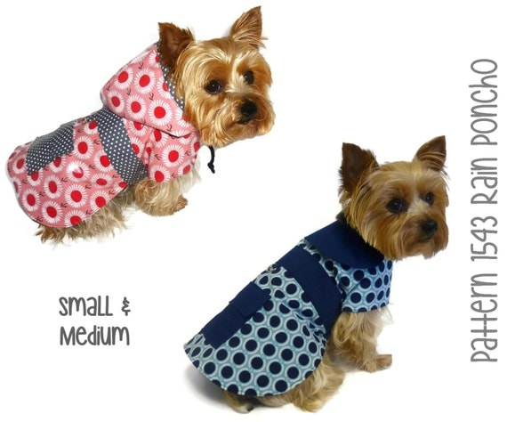 Dog Rain Coat Pattern 1543 Small Amp Medium Dog By
