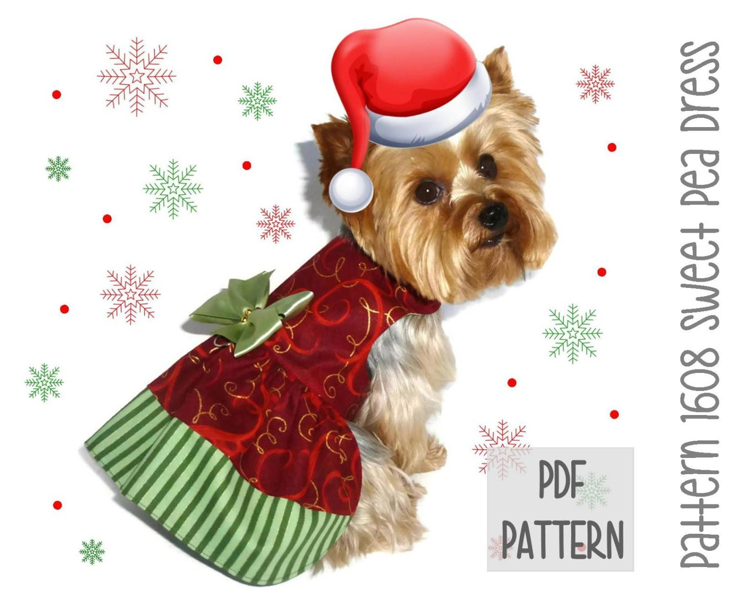 Christmas dog dress sewing pattern 1608 sweet by sofiandfriends