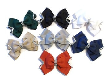 Made To Match,Uniform Bows,Grosgrain Bows,School Bows,Large Hair Bows,Girl Bows,Back To School Bows,Ribbon Bows
