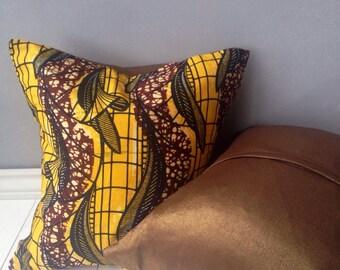 16 x 16 Pillow Covers -  African Print pillows - home decor- Decorative Pillows- scatter pillows - Throw pillows, floor pillows, pillows