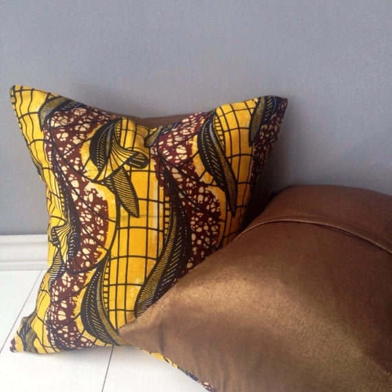 16 x 16 pillow covers african print pillows home decor. Black Bedroom Furniture Sets. Home Design Ideas