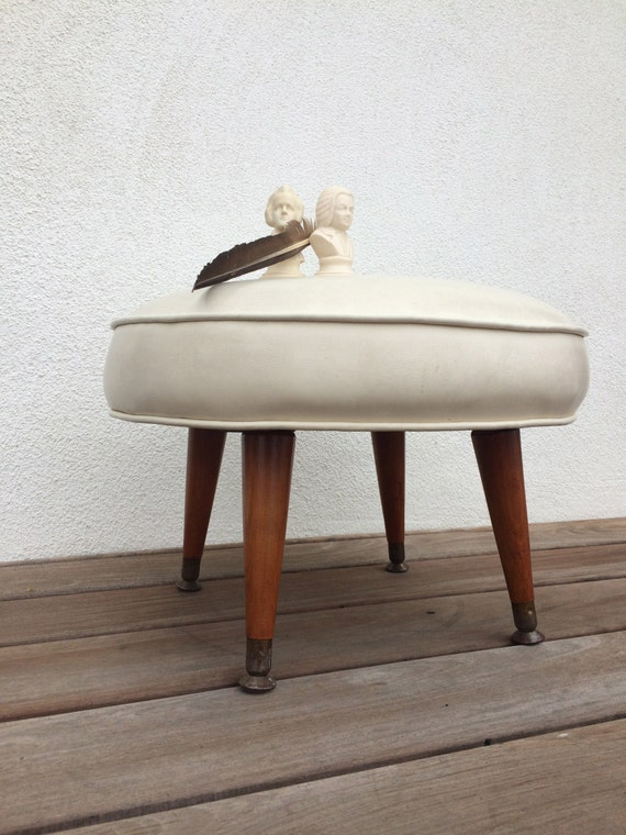 Sale Vintage Stool Mid Century Modern Foot Stool Chair Retro