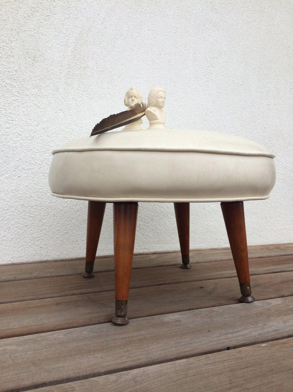 Sale Vintage Stool Mid Century Modern Foot Stool Chair Retro