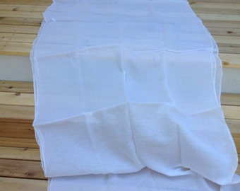 White Guaze Weight Muslin, Vintage Fabric, Never Used