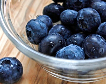 Blueberries Kitchen Photography Wall Decor Fruit Blue Cafe Wall Decor
