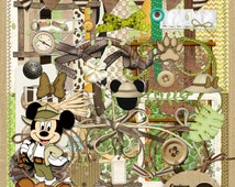 Mickey Safari Digital Scrapbook Kit from Carioca Digital Scrapbook