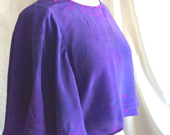 Purple Drape Crop Top