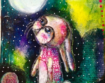 Bunny Gazing at the Moon