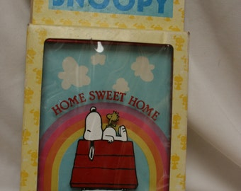 Aviva Snoopy framed stained glass in original package