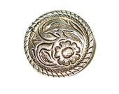 """3/4"""" (1.9cm) Floral Rope Edged Concho Rivet Backed"""