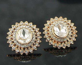 Bridal Earrings Wedding Earrings Wedding Jewelry Bridal Jewelry Vintage Inspired Earrings Gold Post Earrings Style-01