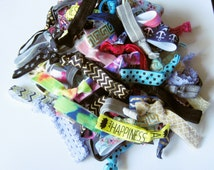 Mega Bulk Pack 100 Soft Elastic Hair Ties, FOE, Knotted Hair Ties, Yoga, Fitness, Countertop Sales Jar, Elastic, Ponytail Holder, Hair Band