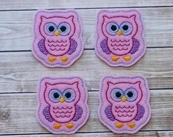 """Owl Felt Embellishment, set of 4, Felties, 2"""" x 1.75"""""""