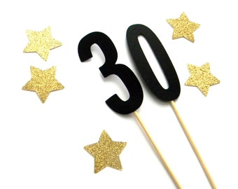 Number 30 Cake Topper, Dirty Thirty Theme, 30th Birthday, Lets Party, 30 Centerpiece