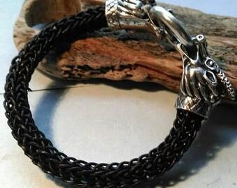 Sister of Dragons Woven Viking knit Bracelet handmade in Scotland