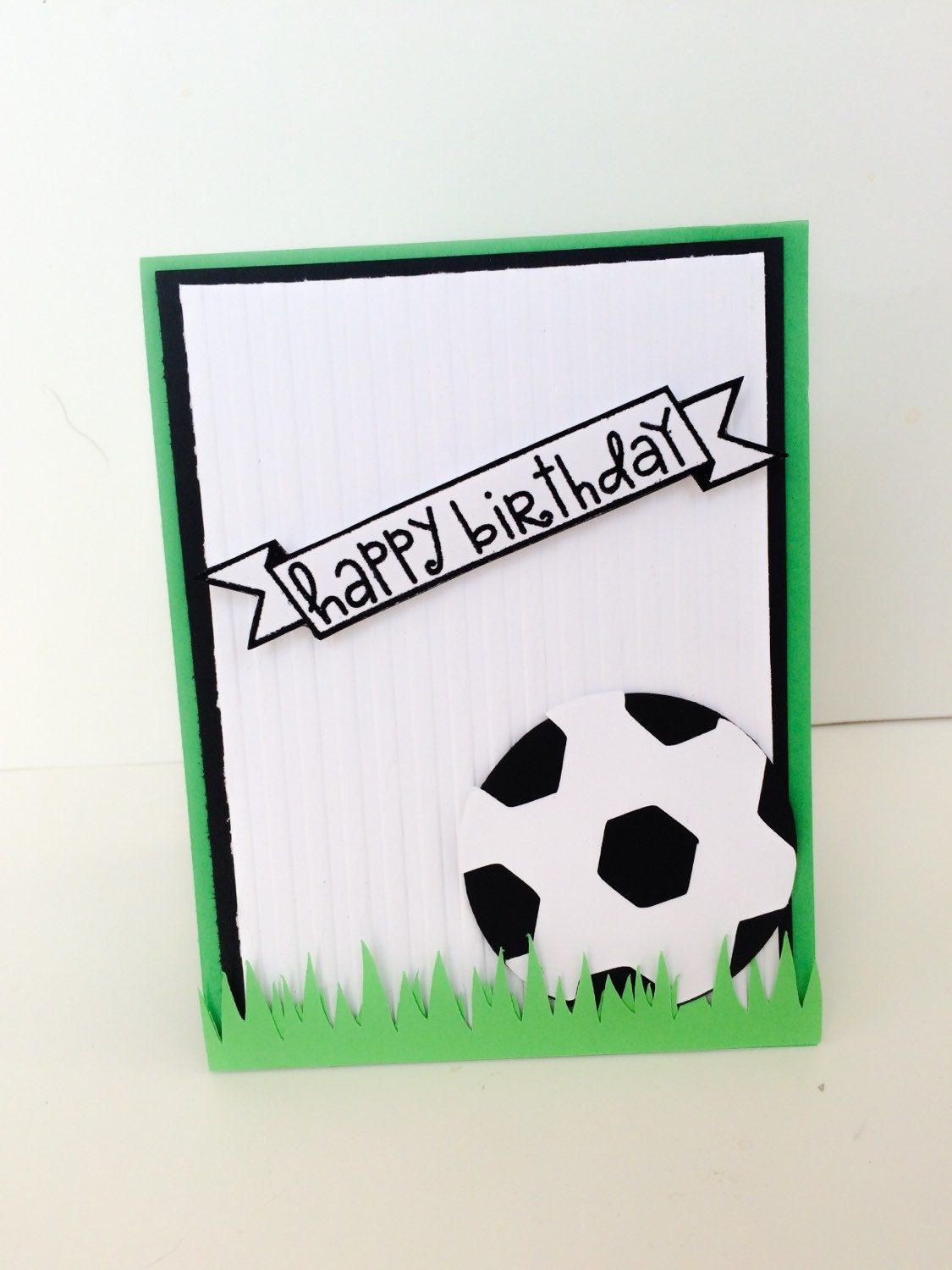 handmade soccer birthday card soccer player card athlete, Birthday card