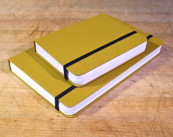 Golden, Sugarcane Paper, Handmade Journal, Sketchbook, Notebook