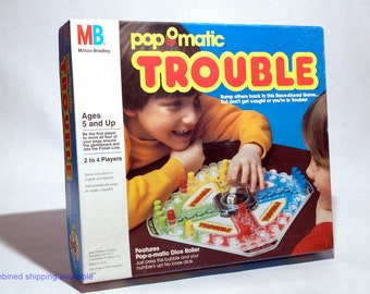 Trouble Pop O Matic Game from Milton Bradley 1986 COMPLETE (read description)