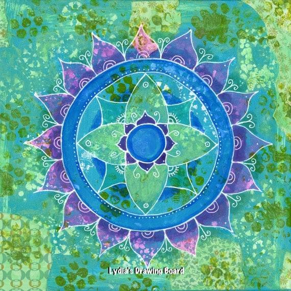 Mandala Art, Mandala Wall Art, Mandala, Original Painting, Meditation Art, Yoga Studio Decor, Dreamy, Mixed Media Art, Sacred Geometry Art