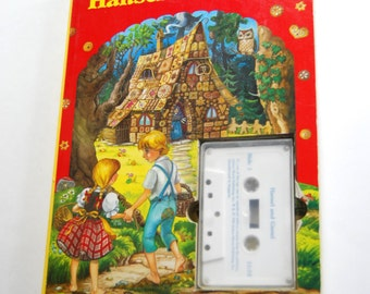 Vintage Children's Book and Tape, Hansel and Gretel