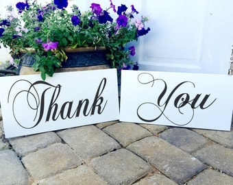 Wedding Thank You Signs, Thank You, Wedding Photos, Reception Signs, Thank You Wedding Signs, Custom, Bride and Groom signs, 8 X 16