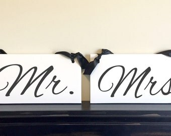 MR. and MRS. CHAIR Signs, Wedding signs, Custom Wedding signs, Hanging Signs, Wedding Signage, Photo Prop, 6 x 12 inches