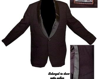 Vintage Tuxedo Jacket / Mens Tux Jacket / Classic Tuxedo Jacket / Vintage Tux