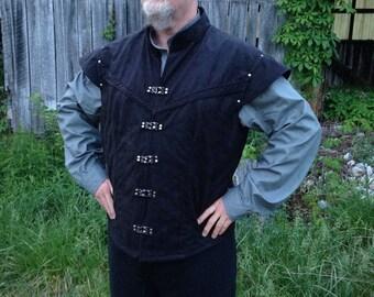 Men's Renaissance Vest and Pirate Shirt