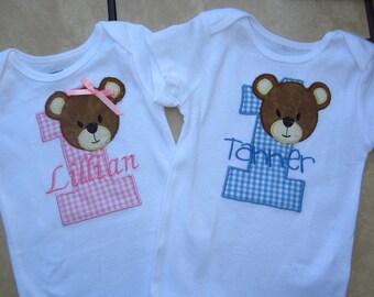 Gingham teddy bear picnic tee